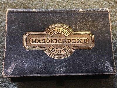 Vintage Masonic Text Cross Book 1866