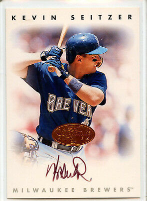 1996 DONRUSS LEAF SIGNATURE SERIES  KEVIN SEITZER AUTOGRAPH Milwaukee Brewers