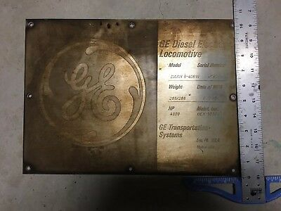 GE Locomotive Identification Plate