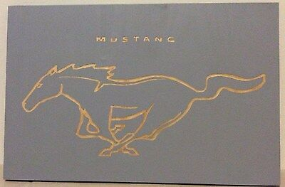Hand Carved Mustang Wall Hanging , Ford Memorabilia