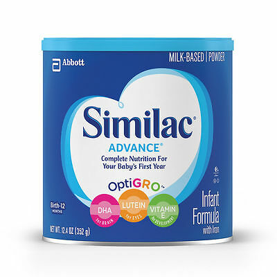 Similac Advance Stage 1 Infant Formula x8 NEW SEALED 12.4 Oz Can OptiGRO Exp2021