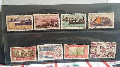 New Caledonia -  mix lot of 8 used stamps lot8