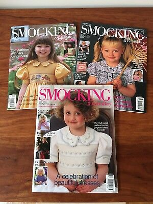 Australian Smocking and Embroidery Magazines Issues #62, #64 and #66