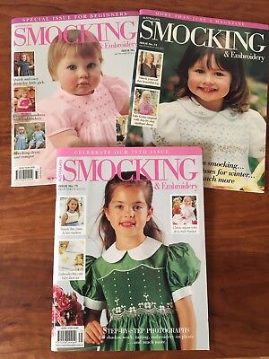 Australian Smocking and Embroidery Magazines Issues #73 - #75