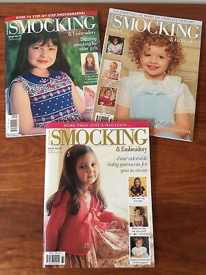 Australian Smocking and Embroidery Magazines Issues #79 - #81