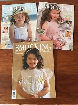 Australian Smocking and Embroidery Magazines Issues #88 - #90