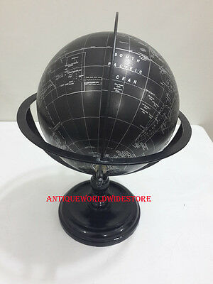 World Globe With Table  Stand Nautical Authentic Globe Decor Map