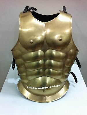 Roman Muscle Breast Plate-Medieva Armor brass antique finish Armor suit /jacket