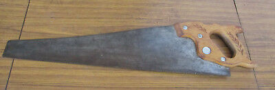 Antique Disston Usa, Cross Saw, Wooden Handle, Collectible.  Old Tools . Opt. 1