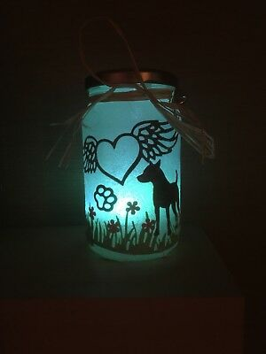 Colour Changing Dog Rainbow Bridge Remembrance Lantern