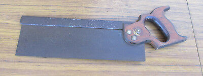 "Antique 12"" Tenon Saw, Stamped Made In England Warranted Superior.  Opt. 4"