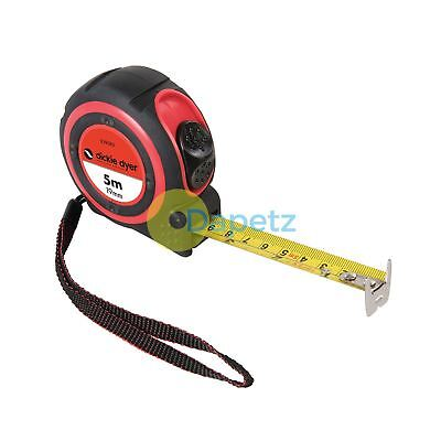 Tape Measure 5M Accurate Dual-Marked Metric / Imperial Scale / 16Ft X 19mm