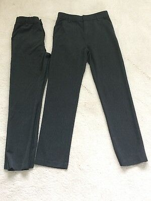 Next Boys Grey School Trousers, Age 14 Years, 2 Pairs