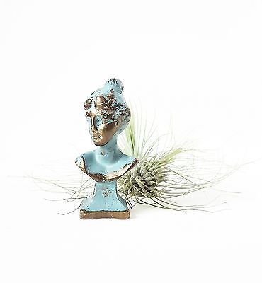 Vintage Retro Antique Small Brass Bust Woman