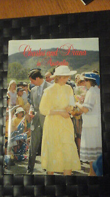 princess Diana and prince Charles in Australia vgc to exellent 1983