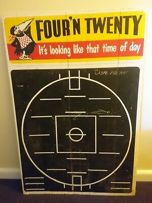 vintage four n twenty pie pies sign milk bar football blackboard