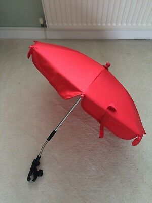 Red Universal Parasol For Pram/Pushchair, IMMACULATE