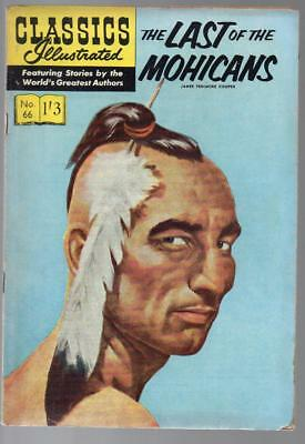 #66 Last Of Mohicans James Cooper Classics Illustrated HRN 129 British Edition