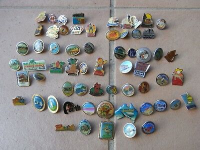 Group lot of Badges Australian Towns States Etc
