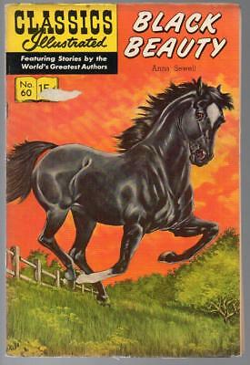 #60 Black Beauty Anna Sewell Classics Illustrated HRN 167 US Edition