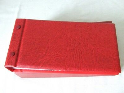 Lindner Red Luxury Padded Covers/Packs Stamp Album With Leaves & Slipcase