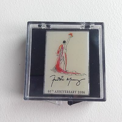 Freddie Mercury (Queen) 60th Anniversary Pin Badge 2006 With Case - Rare