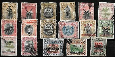North Borneo 17 Pictorials - 1894 to 1909 - Used and Bar Cancelled