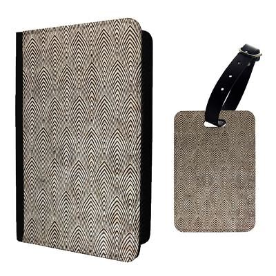 Art Deco Patterns Spiked Phsych Luggage Tag &/OR Passport Holder - T1993