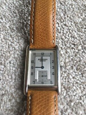 Raymond Weil Mens Stainless Watch Vintage Tan Leather Original