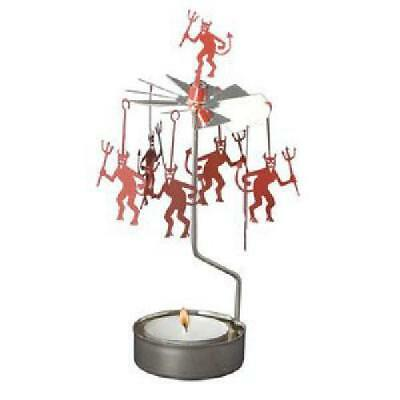 Devil Pitchfork Rotary Candle Holder Halloween Decoration Home Decor Carousel