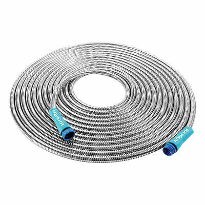Sun Joe Heavy-Duty Spiral Constructed 1/2-In Stainless Steel Garden Hose | 50-FT