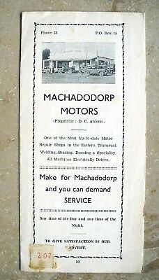 Road Map MACHADODORP eNtokozweni South Africa - Brochure Advert 1920 Kruger