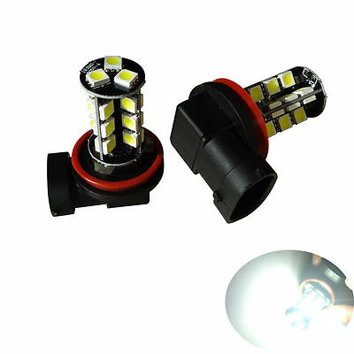 2x H11 27-SMD CANBUS FOG LIGHT LED BULBS ERROR FREE XENON WHITE H11 FOGLIGHT LED