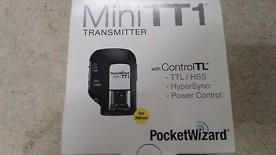 PocketWizard MiniTT1-Nikon Transmitter-Model: TT1-N-US - 340-354MHz MADE IN USA