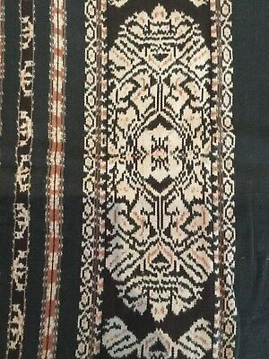 VINTAGE HAND WOVEN IKAT TUBE SKIRT FROM FLORES, INDONESIA 159cm x 55cm