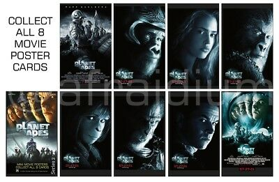 New Planet of the Apes 2001 - Mini Movie Poster Series - Complete Set 8 cards.
