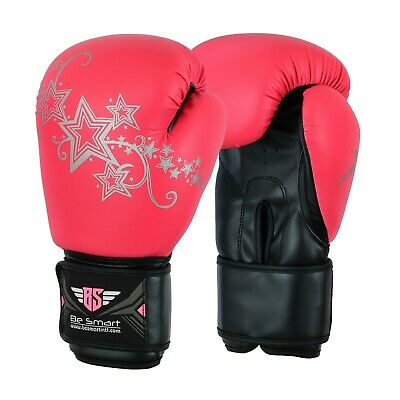 Pink Boxing Gloves Ladies Kids Sparring Gym Training MMA Girl Mitts 4-16Oz