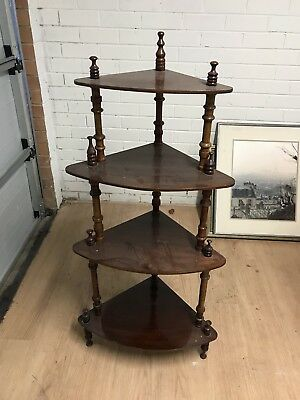 Antique Edwardian Wotnot Corner Shelving Unit