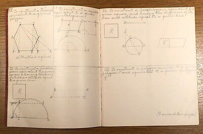 Math and English Handwritten Composition Book 100+ Year Old Journal Notes