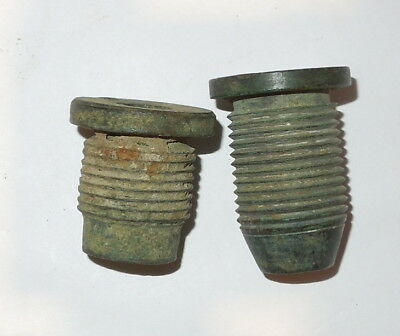Two nice Confederate copper fuse adapters from Petersburg
