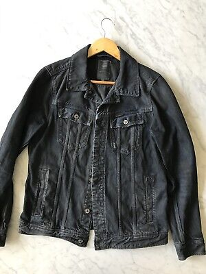 GStar Black Denim Jacket Womens Large Or Mens Small G-Star like wrangler, Levis