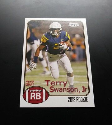 Terry Swanson Jr Texans RC Rookie #17 Sage Hit 2018 Card NFL Football