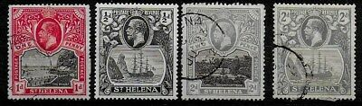 St Helena 1912 to 1922 KGV Definitives - Used & MH