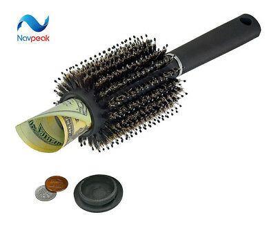 NEW Hair Brush STASH Safe Secret Security Hidden Valuables Hollow Container Home