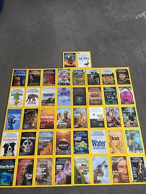 National Geographic magazines x 42