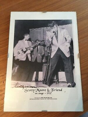 Elvis Presley Guitarist Scotty Moore Genuine Photograph