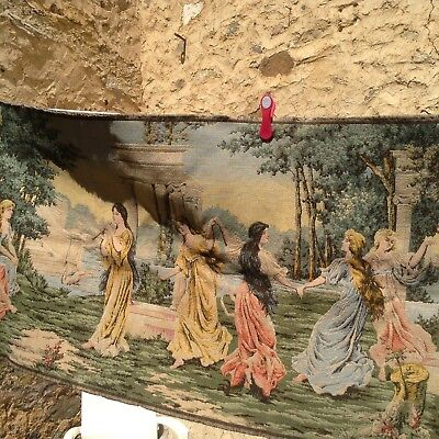 Vintage French Tapestry, 10 Maidens at Play