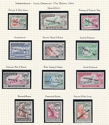Commonwealth. Zanzibar. 1964-67 issues. ELEVEN PAGES. Mint.