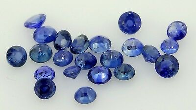 blue sapphire round lot 1.03ct Natural Loose Gemstones.