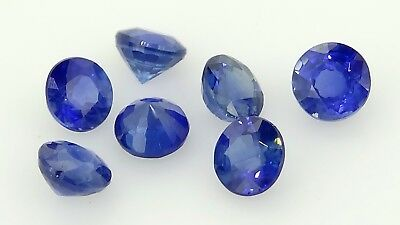 blue sapphire round set 1.08ct Natural Loose Gemstones.